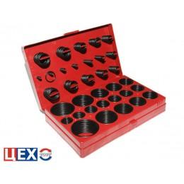 Набор уплотнительных резиновых колец из 382 штук и 32-ух размеров.